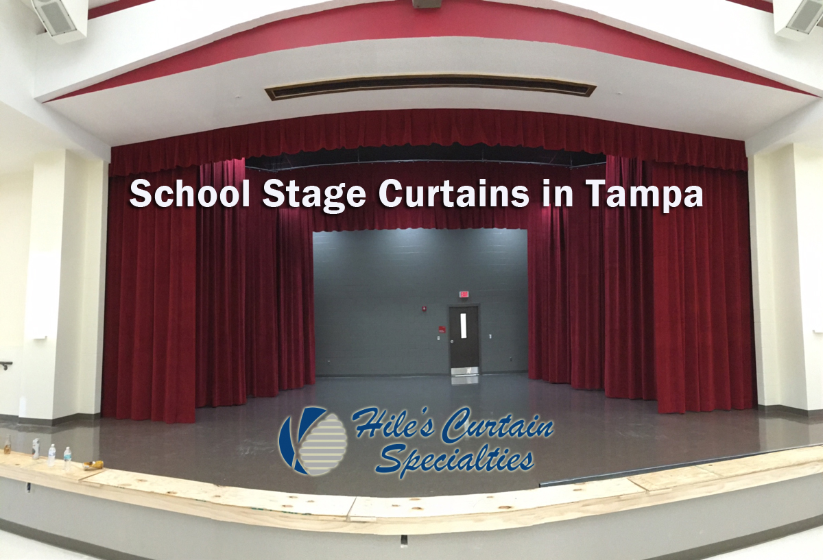 School Stage Curtains in Tampa