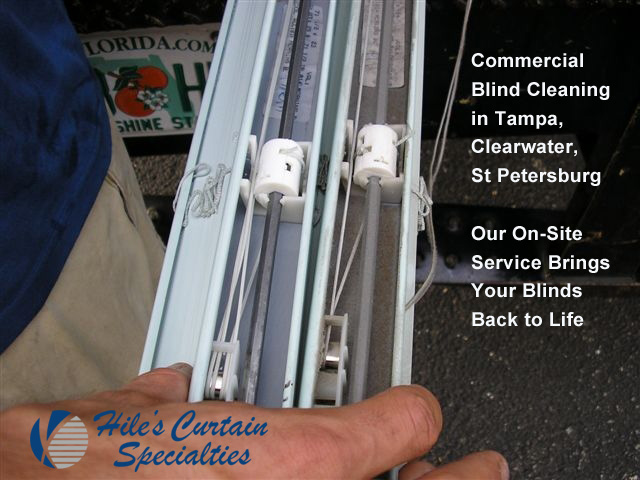 Commercial Window Treatments in St Petersrbur - Mobile Blind Cleaning