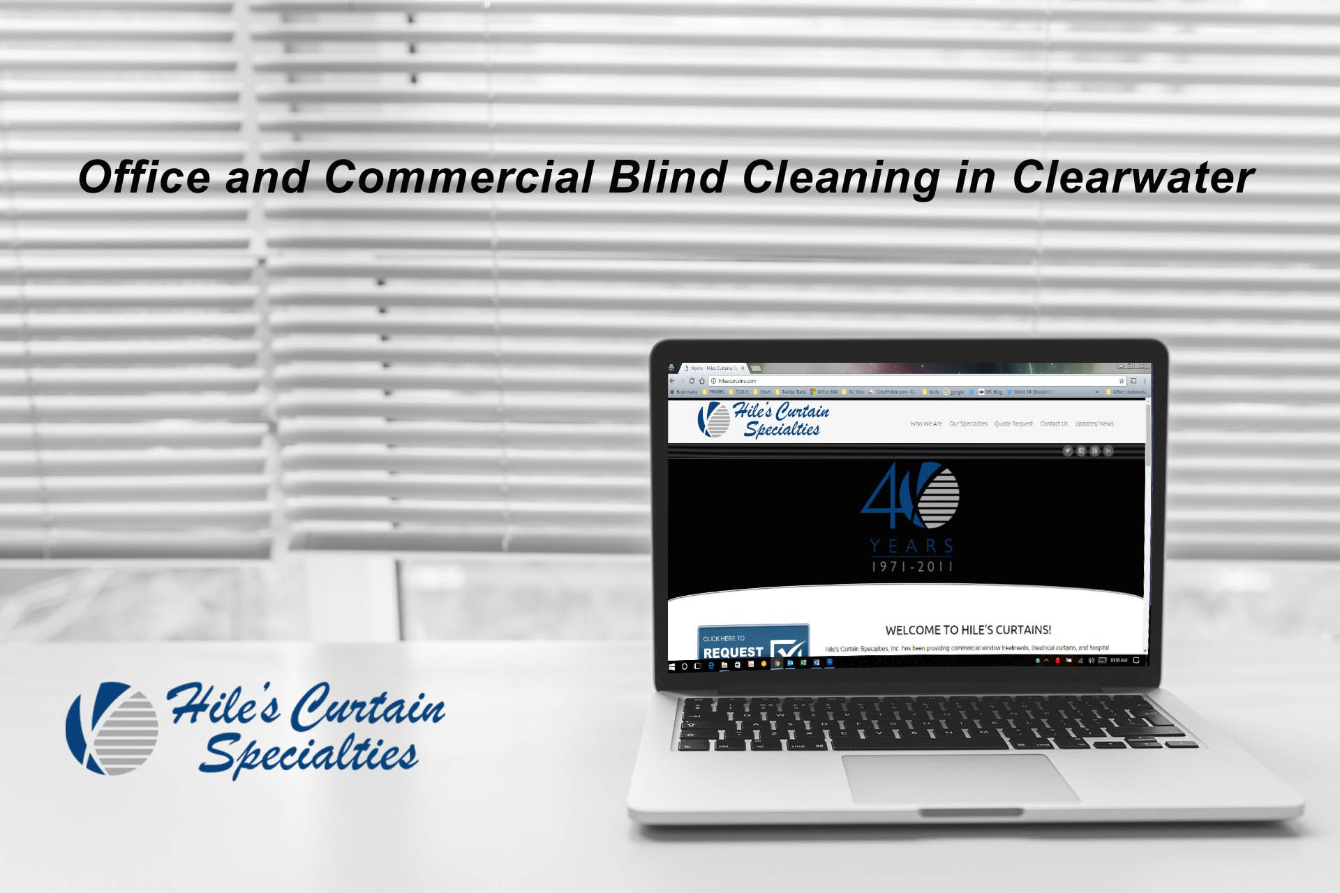 Office and Commercial Blind Cleaning in Clearwater