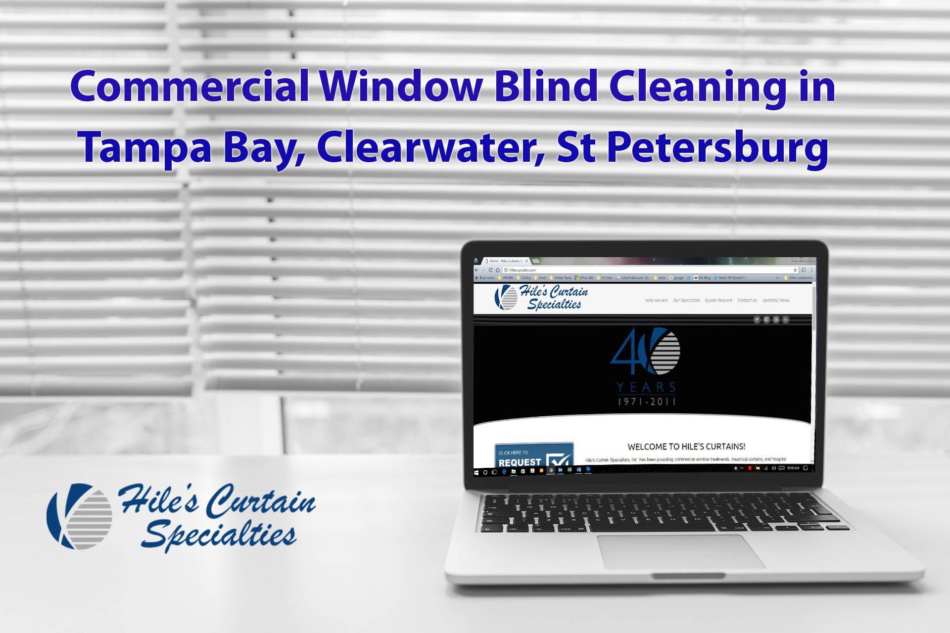 Commercial Window Blind Cleaning in Tampa Bay Hile's Mobile Service