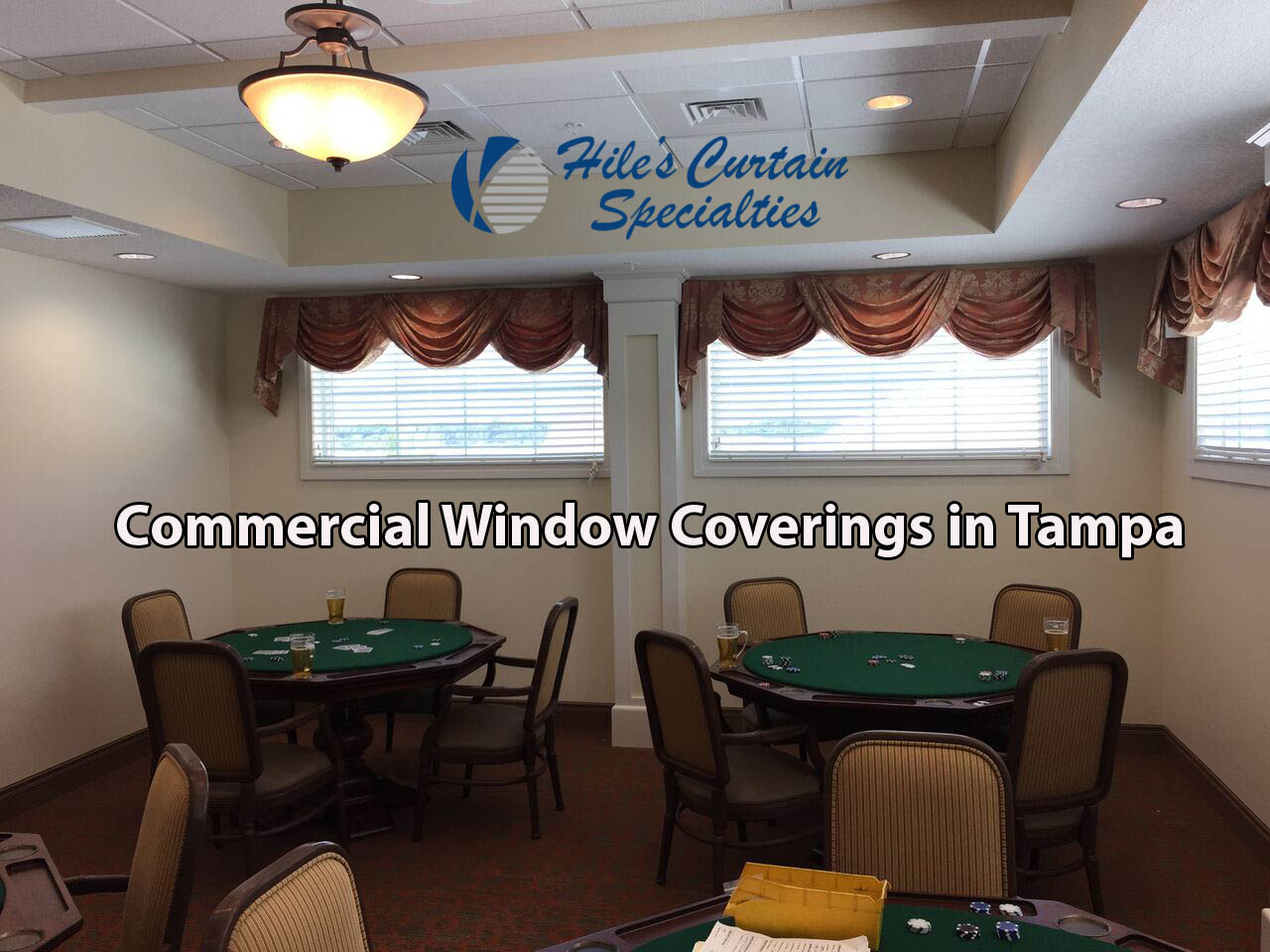 Commercial Window Coverings in Tampa Bay - Restaurant Curtains