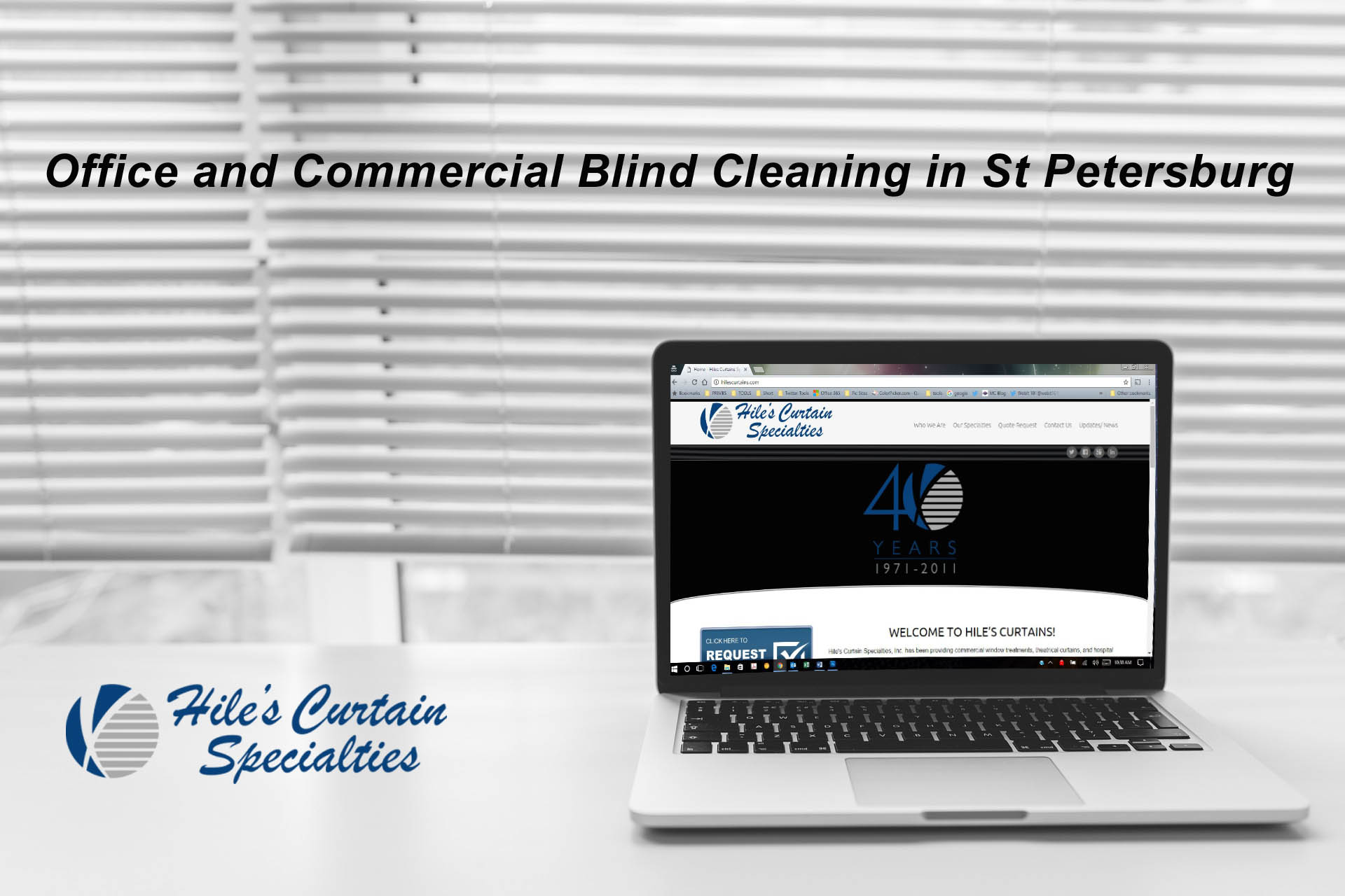 Office and Commercial Blind Cleaning in St Petersburg Florida