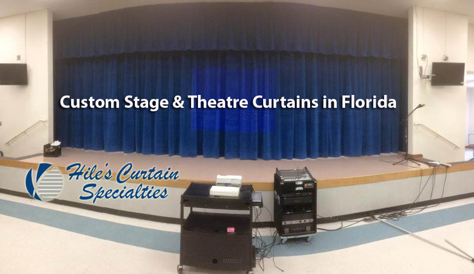 Custom Stage Curtains in Tampa - Hiles Curtain Specialties