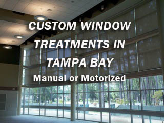 Custom Window Treatments in Tampa Bay - Motorized