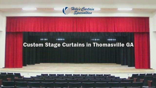 Custom Stage Curtains in Thomasville GA
