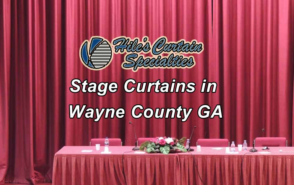Stage Curtains in Wayne County GA