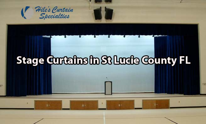 Stage Curtains in St Lucie County Florida - contact Hiles