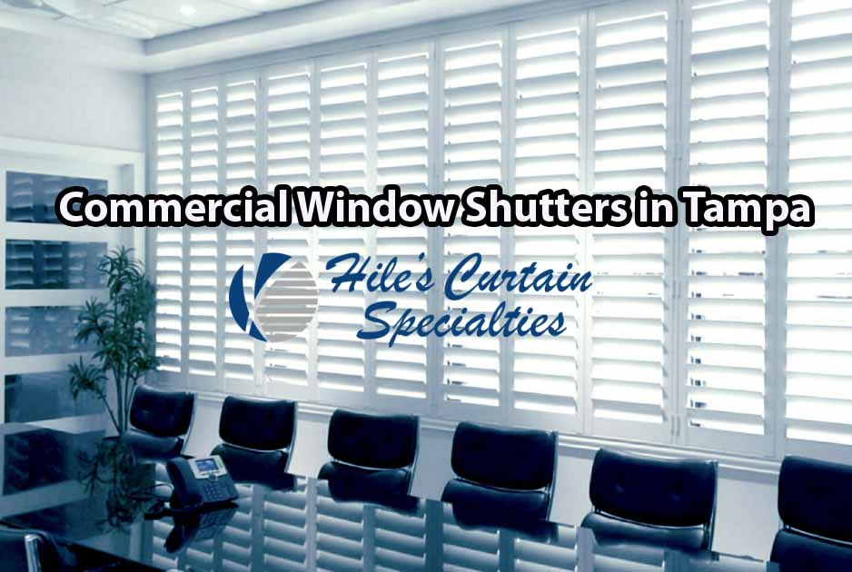 Office Window Treatments - Hillsborough County Window Shutters