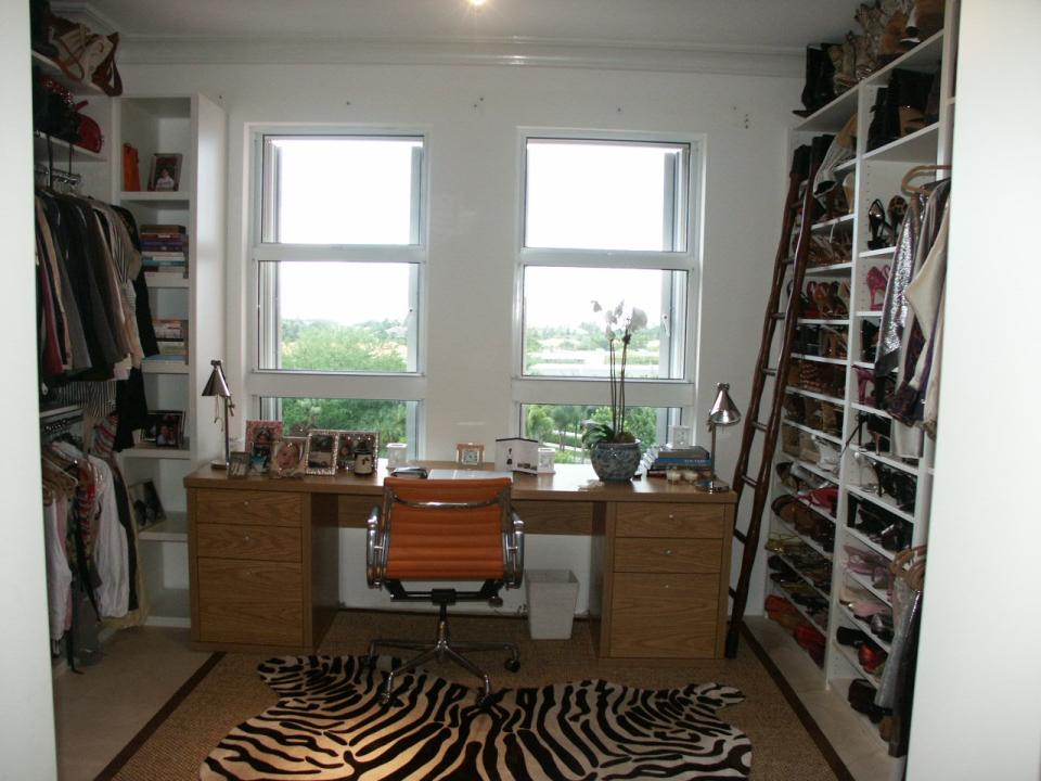 Custom closet and desk