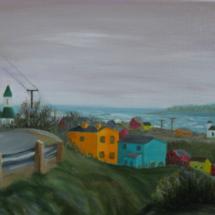 2017 Fishing Village, Newfoundland 16x12 Oil on Canvas