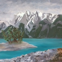 Maligne Lake 18x14 Oil on canvas