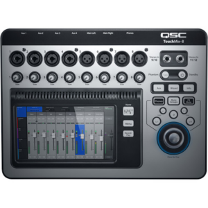 QSC TouchMix-8 Compact Digital Mixer with Touchscreen top view