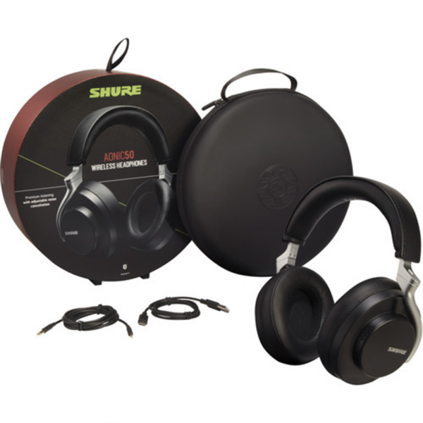 Shure AONIC 50 Wireless Noise-Canceling Headphones kit