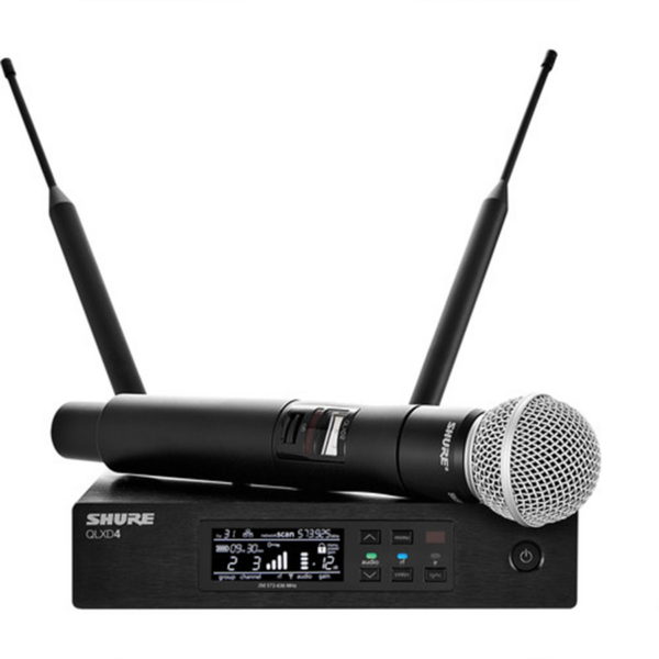 Shure QLXD24:SM58 Digital Wireless Handheld Microphone System with SM58 Capsule (G50- 470 to 534 MHz)
