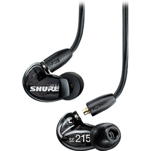 Shure SE215 Sound-Isolating In-Ear Stereo Earphones Black