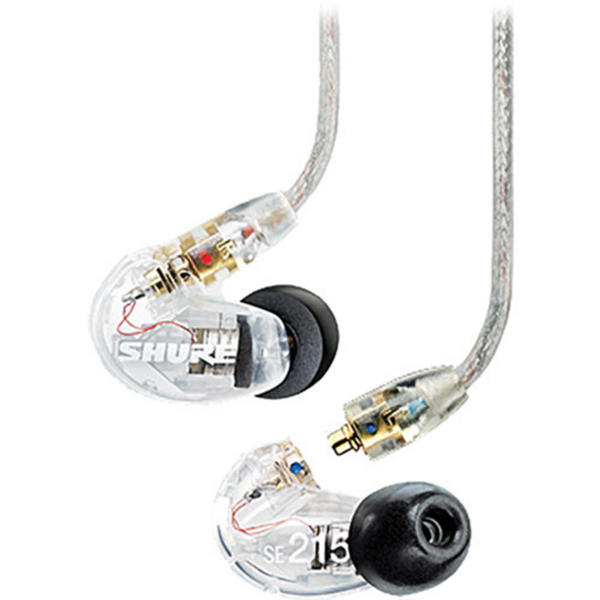 Shure SE215 Sound-Isolating In-Ear Stereo Earphones Clear