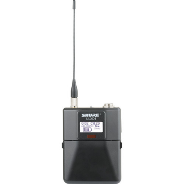 Shure ULXD1 Digital Wireless Bodypack Transmitter with TA4M (G50- 470 to 534 MHz) front