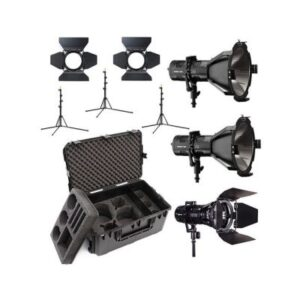 Hive Lighting 3 Light Kit with 2 HORNET 200-C Par Spot Lights & 1 WASP 100-C Par Spot Light, 3 Stands & C-Series 3 Light Hard Rolling Case with Custom Foam The 2-Hornet 200-C PAR Spot LED, 1-Wasp 100-C 3-Light Kit with Hard Rolling Case from HIVE Lighting was put together for image makers who require a compact, lightweight solution backed by color, power, and light intensity options for shooting on location. The kit contains two Hornet 200-C PAR Spot LED lights and one Wasp 100-C PAR Spot light, each with an adjustable yoke, Superspot reflector, barndoor set, multi-voltage power supply, and a light stand. HIVE also includes a hard rolling case to safely store and transport the kit.