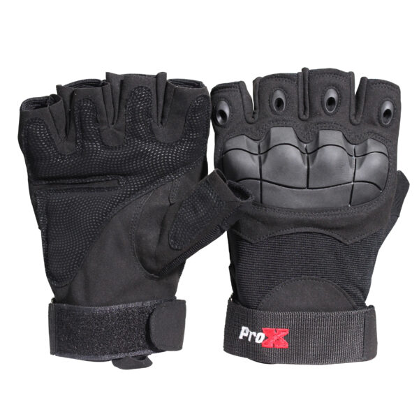 X-GRIPZ Hard Rubber Knuckle Fingerless Gloves - For Truss and Stage Performance