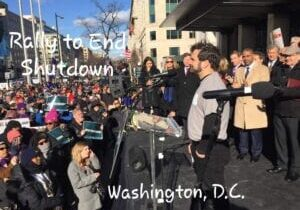 NWSEO Steward Mark Pellerito, End of Partial Government Shutdown Rally 2019