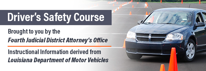 Welcome to the online Driver's Safety Course