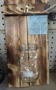 Jan.14 2019 $30.00 Mason Jar Sconce w/lights
