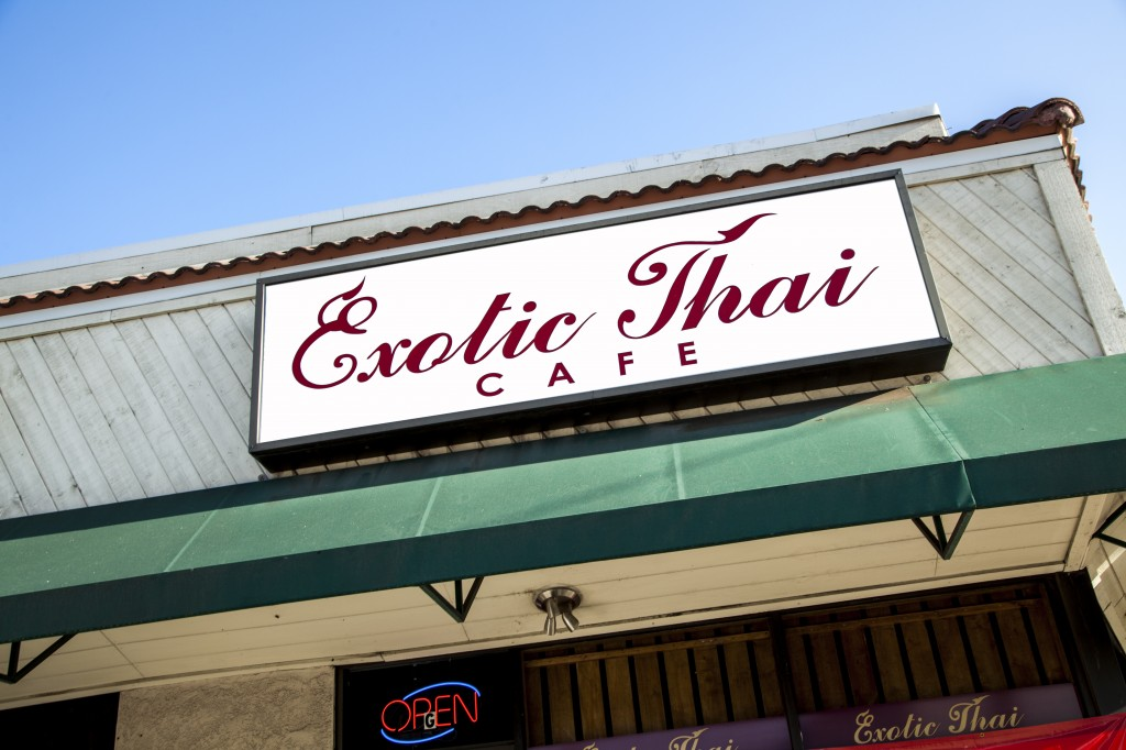 Exotic Thai can be found at the corner of Fallbrook Avenue and Ventura Boulevard in Woodland Hills, Calif. Exotic Thai was first opened in Thailand. Then, family members came to the United States and opened the Thai cuisine eatery, bringing special recipes and flavors for all to enjoy. Oct. 14, 2013. Photo: Lynn Levitt