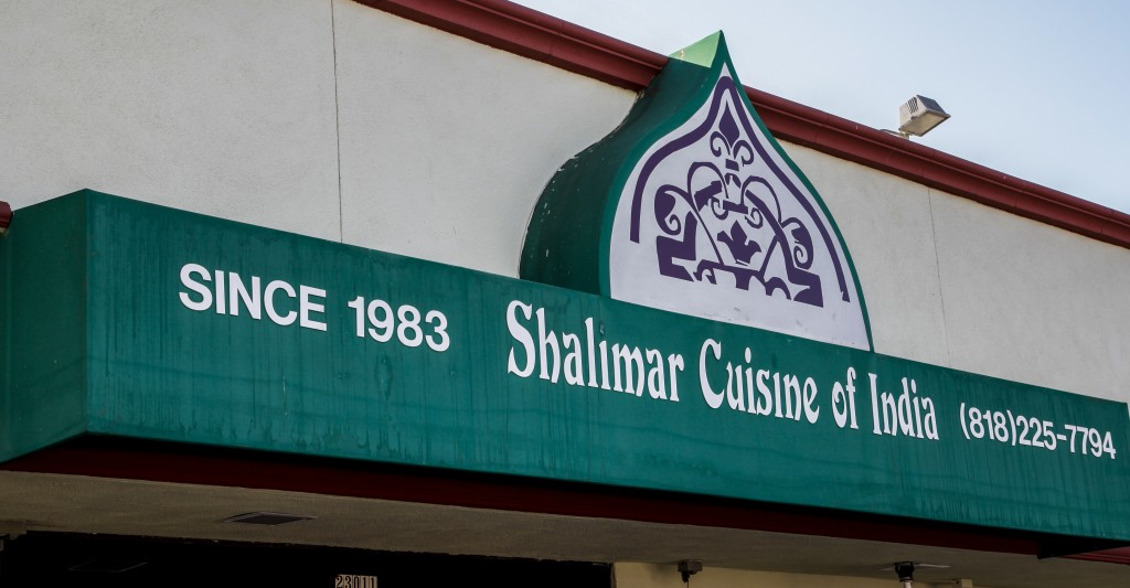Shalimar, Cuisine of India, is located on Ventura Blvd., Woodland Hills, Calif. Shalimar has an expansive menu and restaurant to door delivery. Oct. 14, 2013. Photo: Lynn Levitt.