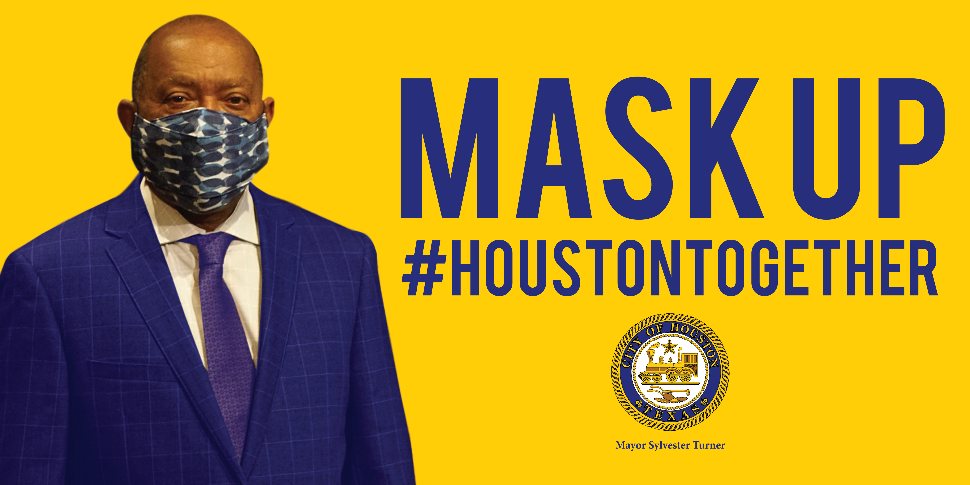 Mayor Turner with a mask.