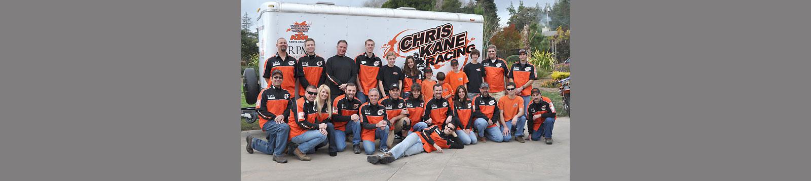 Chris Kane Racing team photo