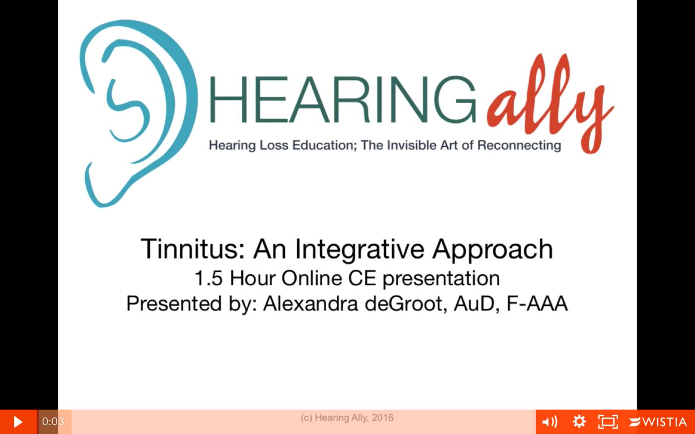 tinnitus online course