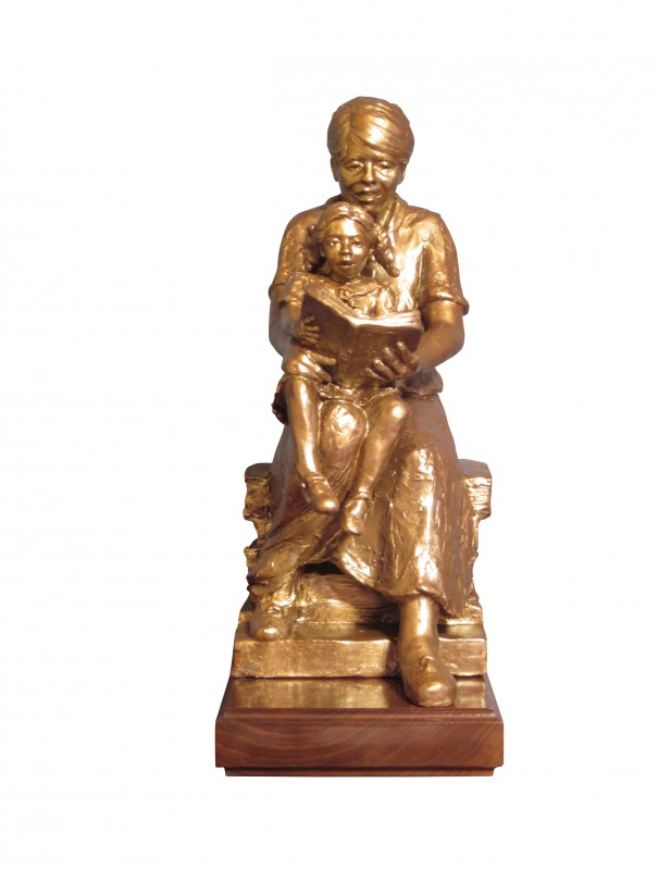 "Walsh Dedication for East Baton Rouge Library, bronze, 20"" H"