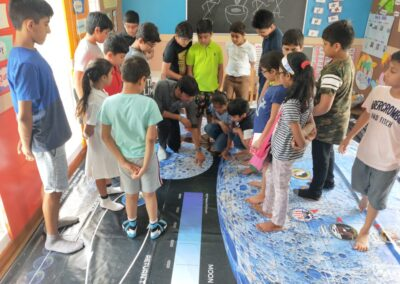 STEM-Space-workshop-using-Giant-Moon-Map