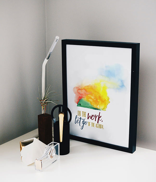 Do the Work Inspirational quote desk art