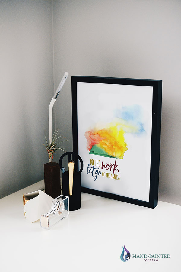Home office inspirational quote desk art
