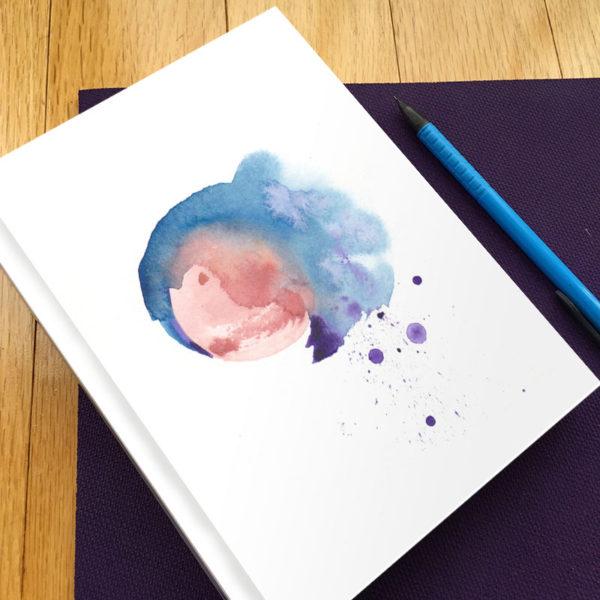 Blood Moon Hardbound Gratitude Journal by Hand-Painted Yoga