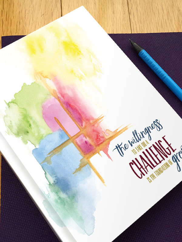 Watercolor Gratitude Journal by Hand-Painted Yoga