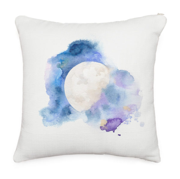 Cosmic Moon throw pillow by Hand-Painted Yoga