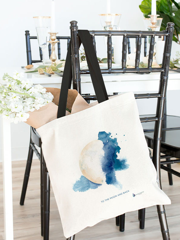 Mystic Moon Tote bag by Hand-Painted Yoga