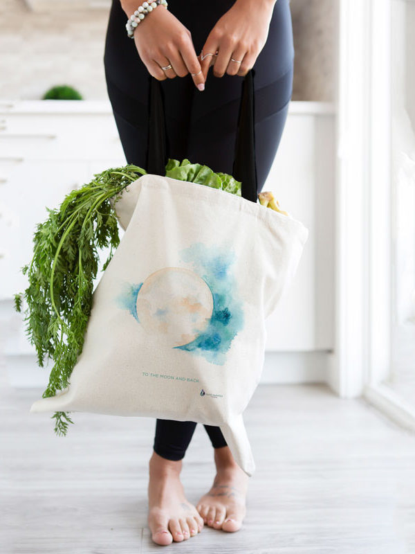 Sacred Moon Tote bag by Hand-Painted Yoga