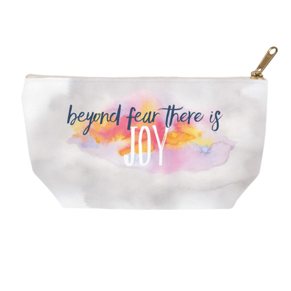 Beyond Fear Watercolor Accessory pouch by Hand-Painted Yoga