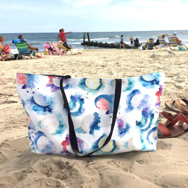 Moon Phase Beach bag by Hand-Painted Yoga
