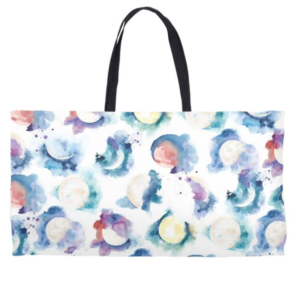 Moon Phase Weekender tote by Hand-Painted Yoga