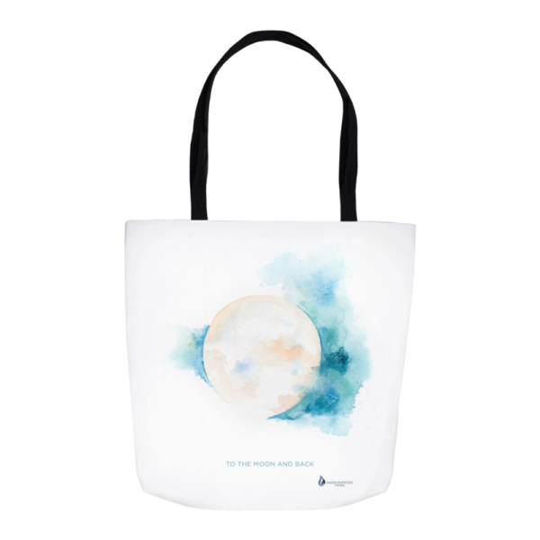 Sacred Moon Tote by Hand-Painted Yoga
