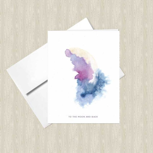 Desert Moon Watercolor Greeting Cards by Hand-Painted Yoga