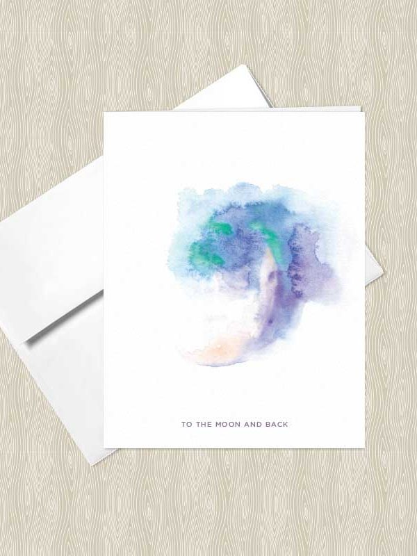Gypsy Moon Watercolor Greeting Cards by Hand-Painted Yoga