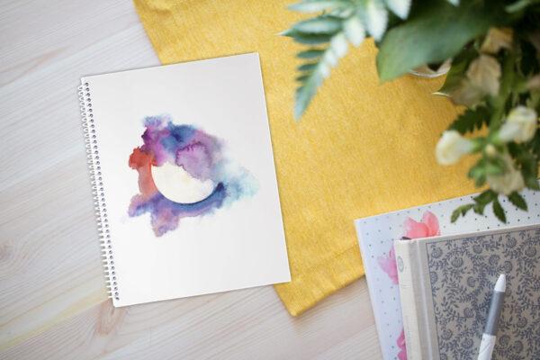 Harvest Moon gratitude spiral notebook
