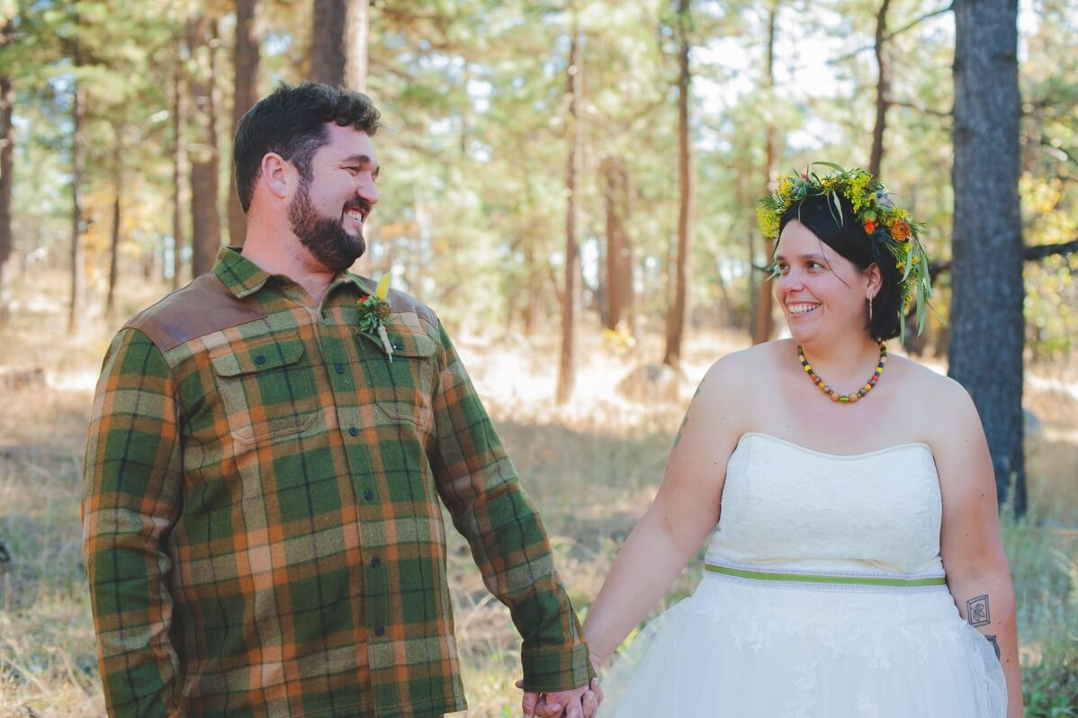 The LaPlante's Rustic Mountain Top Autumn Wedding