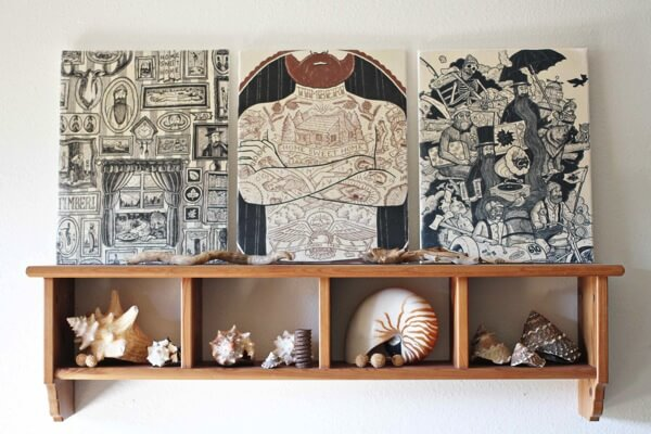 DIY: Recycled Keepsake T-Shirt Artwork For Your Home