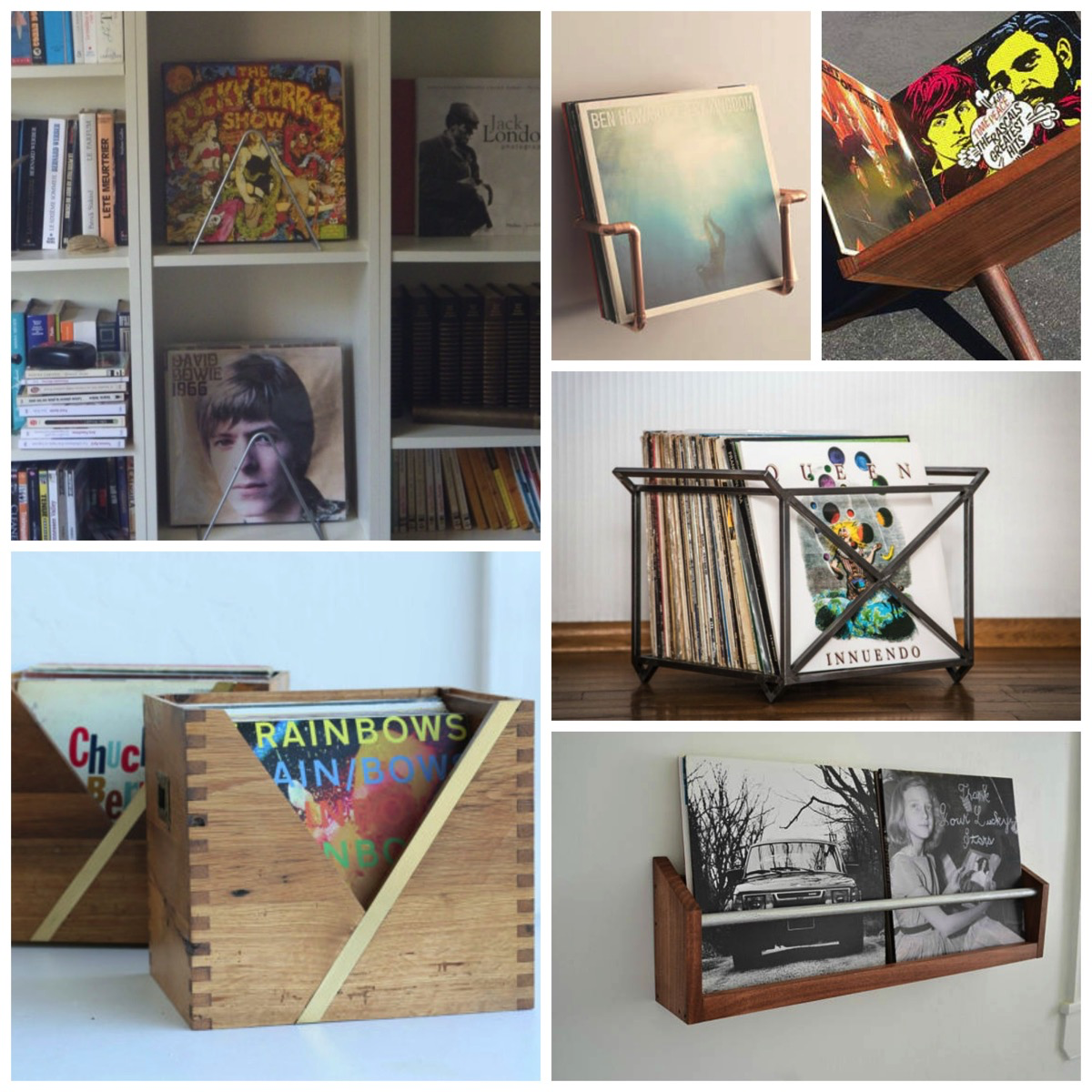 Unique and Modern Vinyl Record Holders That Showcase Your Collection and Look Amazing In Your Home